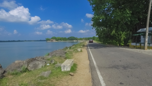 The east bank of Parakrama Samudra