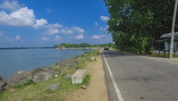 The east bank of Parakrama Samudra