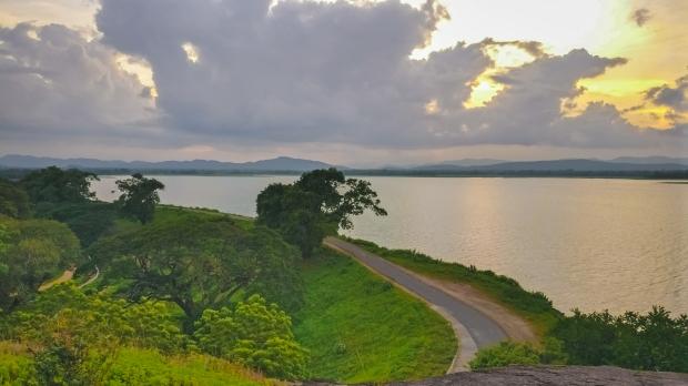 Sunset by the Parakrama Samudra