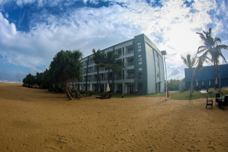 Entire hotel captured from the beach
